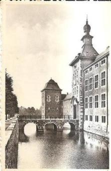 AYENEUX Château de Wégimont fossé & façade ouest ed. Ern. Thill & Nels (Small).jpg