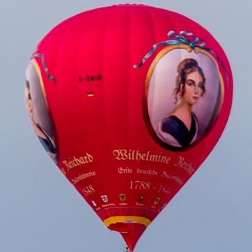 Heißluftballon D-OWIR - Wilhelmine Reichard - über Dresden