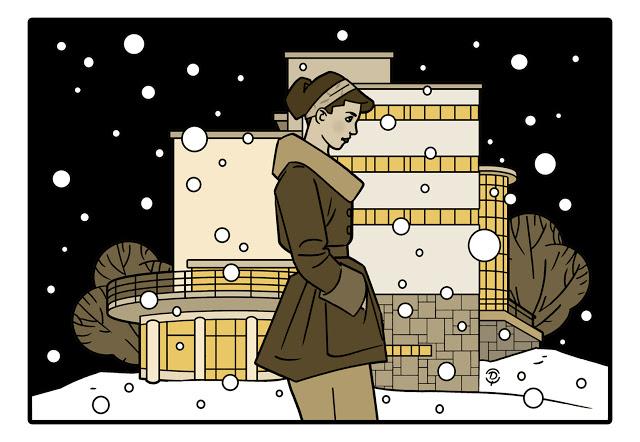 Delius dessinateur Antoine COURTENS Laurentides dessin sepia