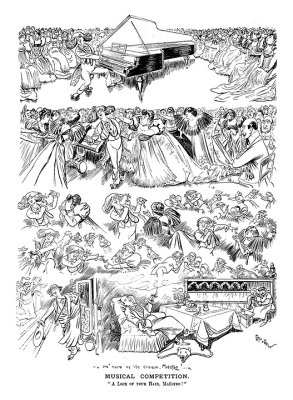 Victorian Era Music Cartoons from Punch magazine by Caran d'Ache (Emmanuel Poire)